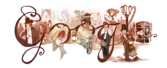 Google Doodle  Charles Dickens  200 