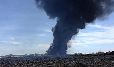 New fire at Praeksa rubbish dump